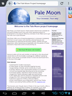 Pale Moon web browser- screenshot thumbnail
