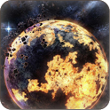 3D cosmic space wallpaper icon