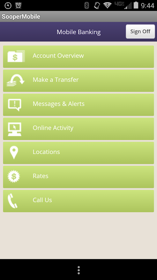 Sooper Mobile Banking App- screenshot