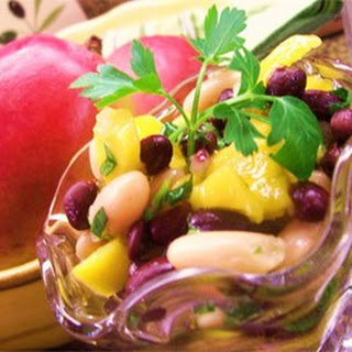 Two-Bean and Mango Salad.