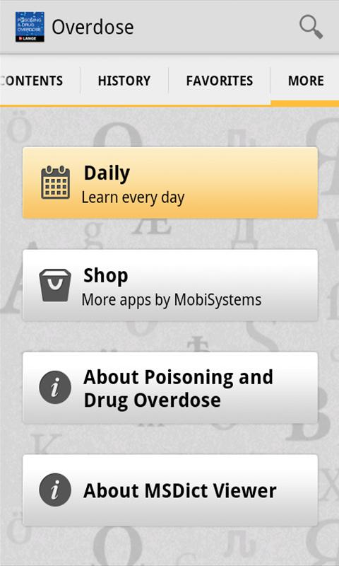 Poisoning and Drug Overdose - screenshot