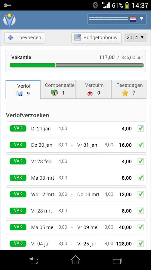 Verlofdagen.nl- screenshot