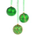 Christmas Ornament Green icon