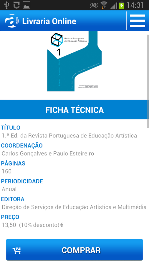 Livraria AREArtística - screenshot