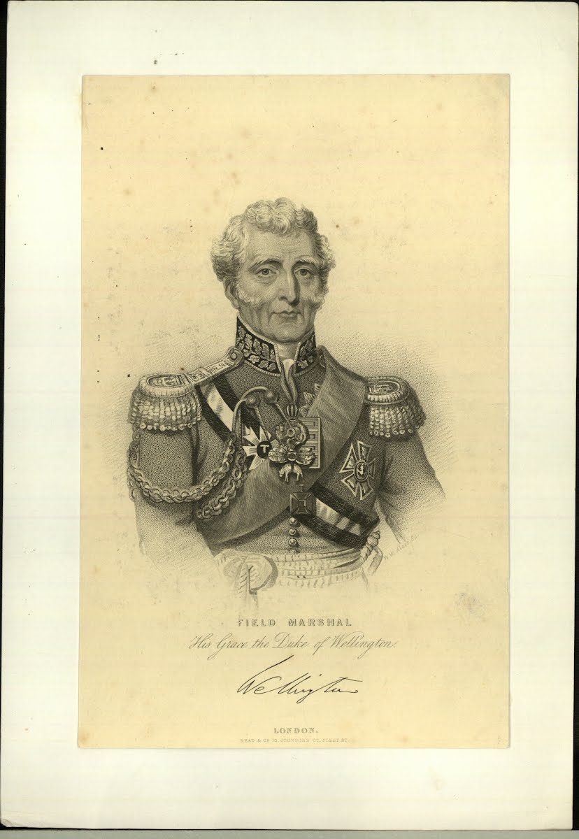 Wellington Arthur Wellesley Portrait Old