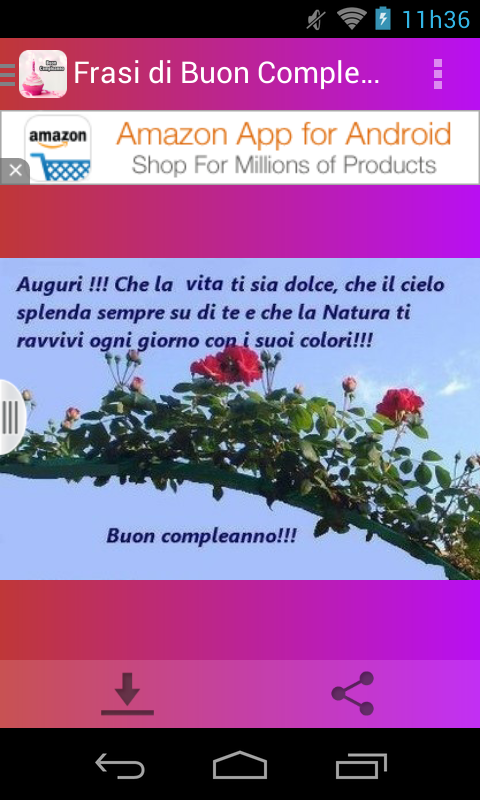 Famoso Frasi di Buon Compleanno - Android Apps on Google Play ER67