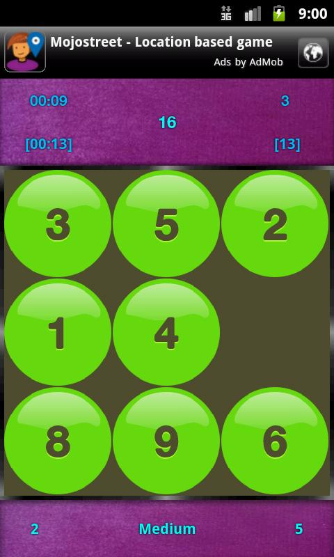 15+Puzzle with Puzzle Solver - screenshot