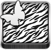 THEME - White Zebra Butterfly