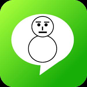 Apps apk 雪だるまスタンプ FREE ~絵文字スタンプ〜  for Samsung Galaxy S6 & Galaxy S6 Edge