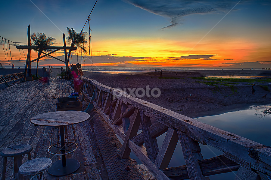 .:: red twilight ::. by Setyawan B. Prasodjo - Landscapes Sunsets & Sunrises ( red sky, sunset, travel, bridge, dusk )