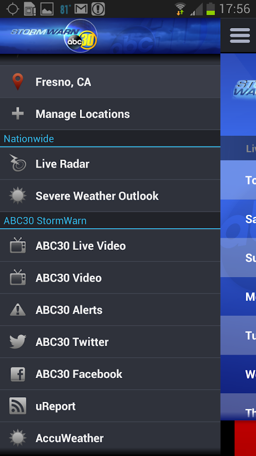 ABC30 StormWarn - screenshot