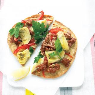 Lamb Pita Pizzas