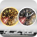 豹柄アナログ時計ウィジェット icon