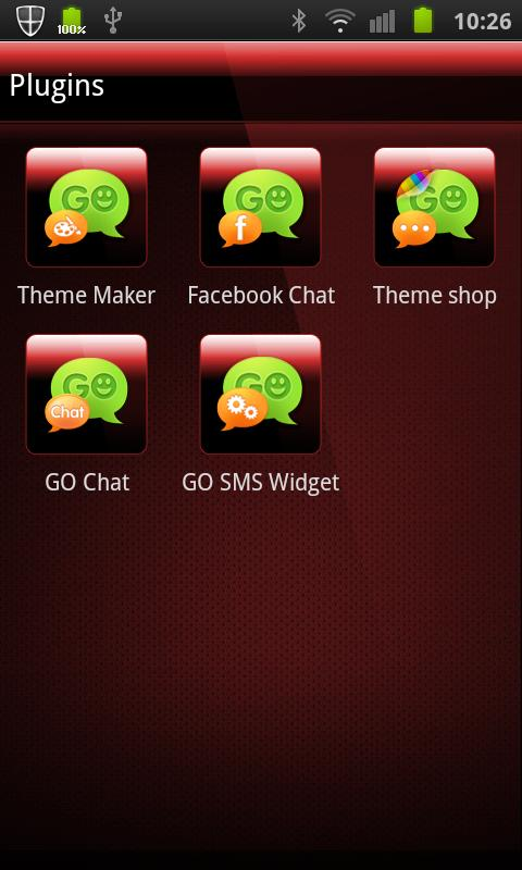 GO SMS PRO THEME Deep Red - screenshot