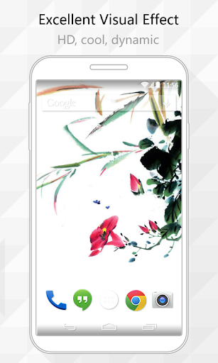 Ink Flower Live Wallpaper