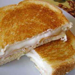 Grilled Chicken Cordon Bleu Sandwiches.