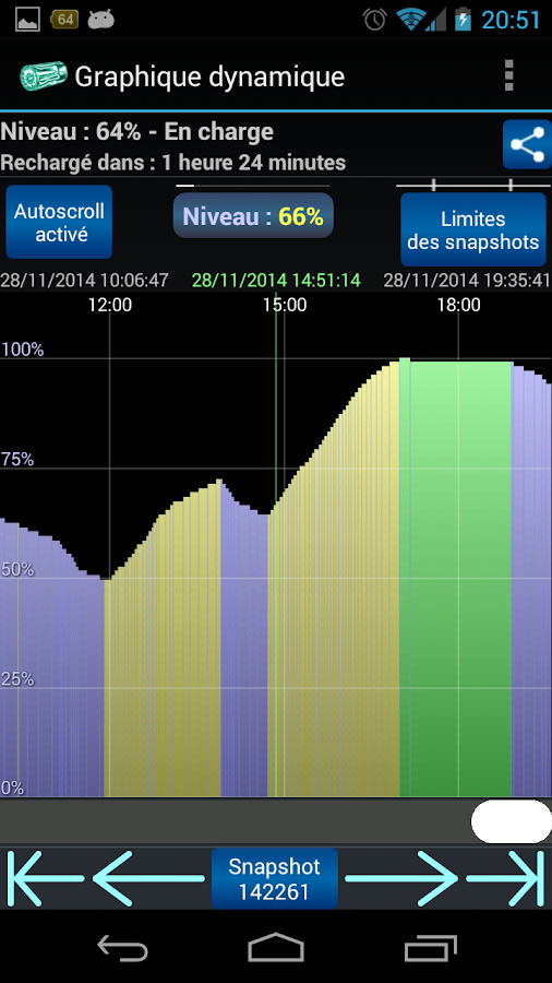 Battery snap - screenshot