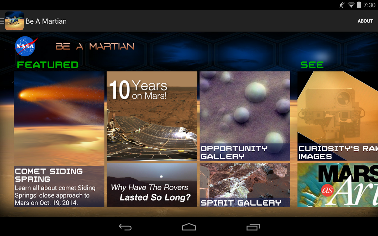 NASA Be A Martian- screenshot