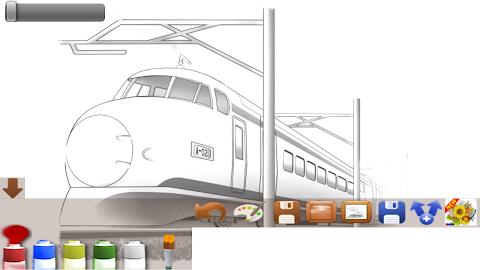 大人の塗り絵電車の画像集 Androidアプリ Applion