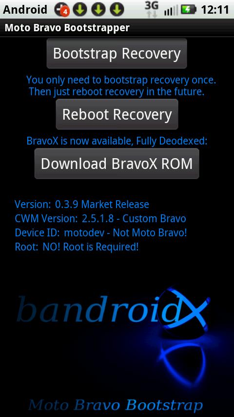 Bravo Recovery- screenshot