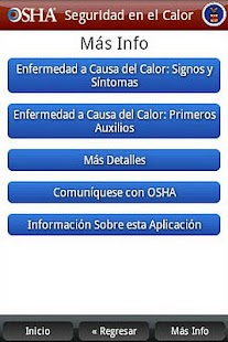 OSHA Heat Safety Tool-Spanish - screenshot thumbnail