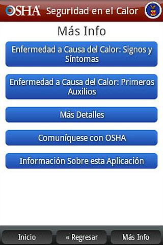 OSHA Heat Safety Tool-Spanish - screenshot