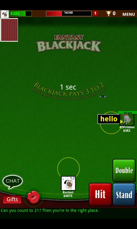 Fantasy Blackjack - screenshot