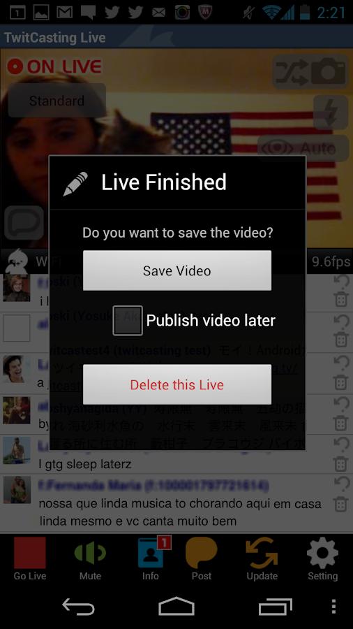 TwitCasting Live - (Free) - screenshot