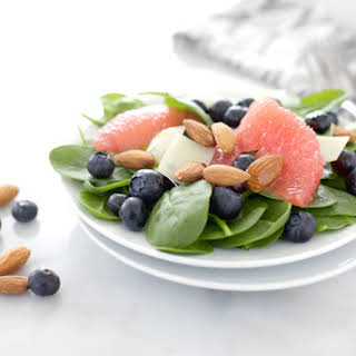 Almond, Blueberry and Grapefruit Salad.