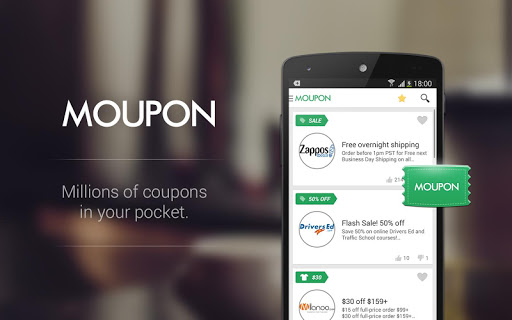Moupon - Coupons at fingers