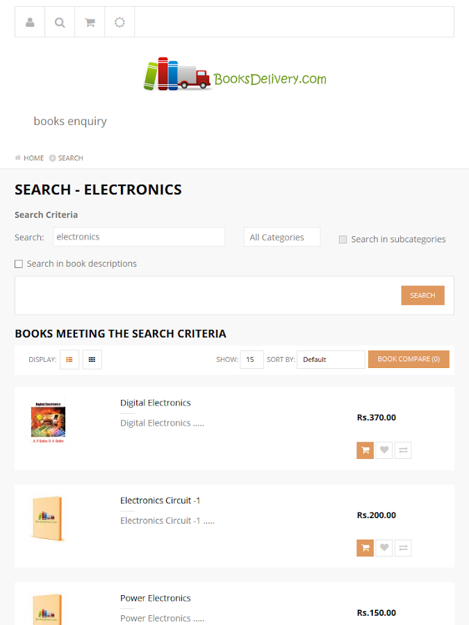 BooksDelivery- screenshot
