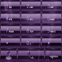Dialer GlassMetalFramePurple icon