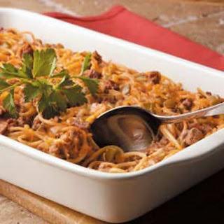 Cheesy Spaghetti Bake.