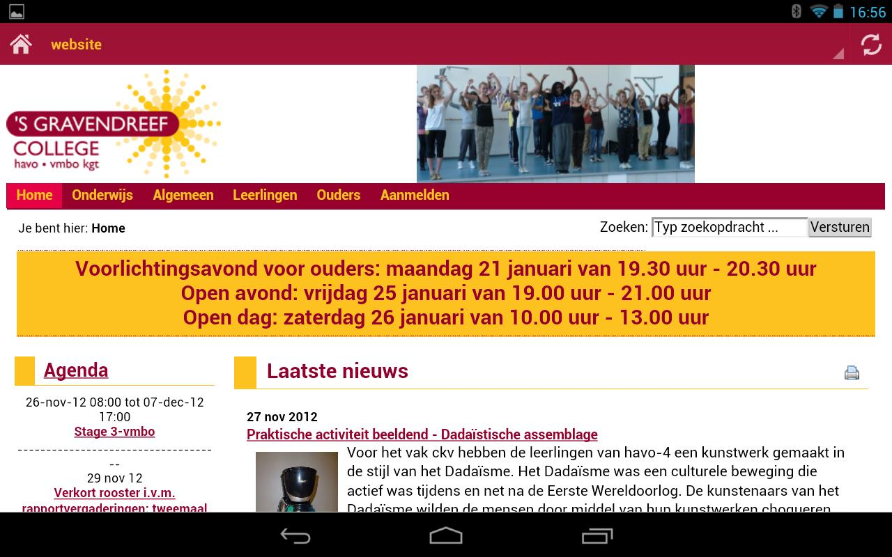 Sgdc leerlingen app beta- screenshot