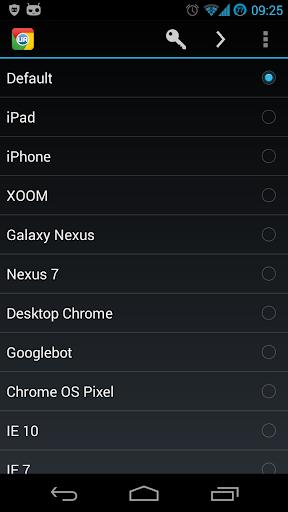 Chrome UA Switcher