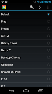 Chrome User Agent Switcher - screenshot thumbnail