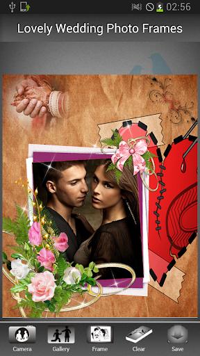 可爱的婚礼相框