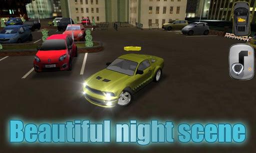 晚上汽车城停车场3D - New Parking Game
