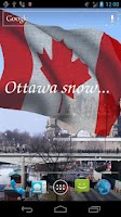 Screenshot of 3D Canada Flag Live Wallpaper