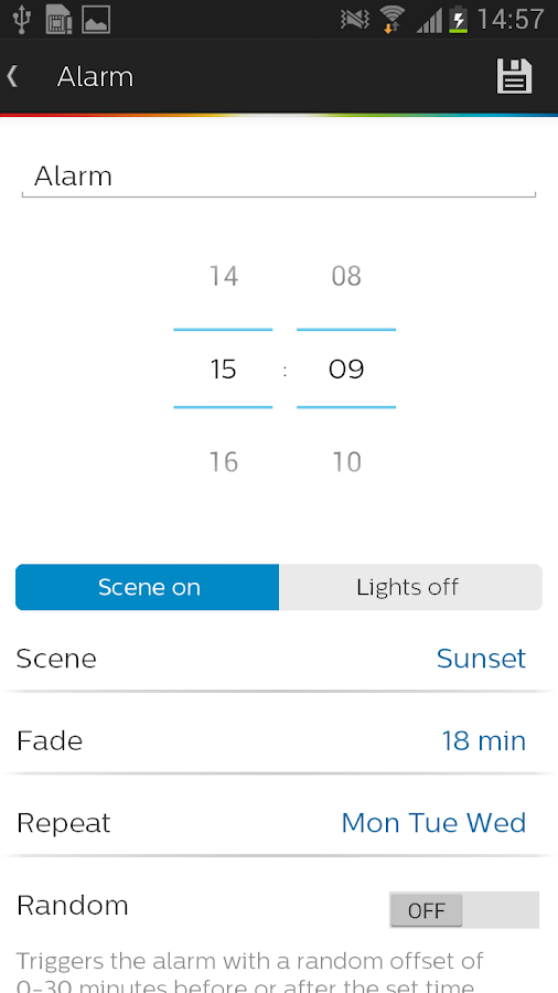 Philips Hue gen 1 – Screenshot
