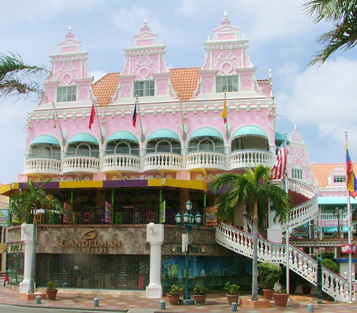 architecture-oranjestad-Aruba - A building in downtown Oranjestad, the capital of Aruba.