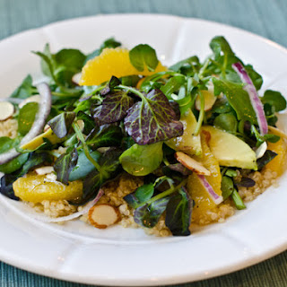 Quinoa Salad with Watercress, Oranges, Avocado, and Almonds, with Citrus Vinaigrette