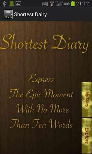 Shortest Diary