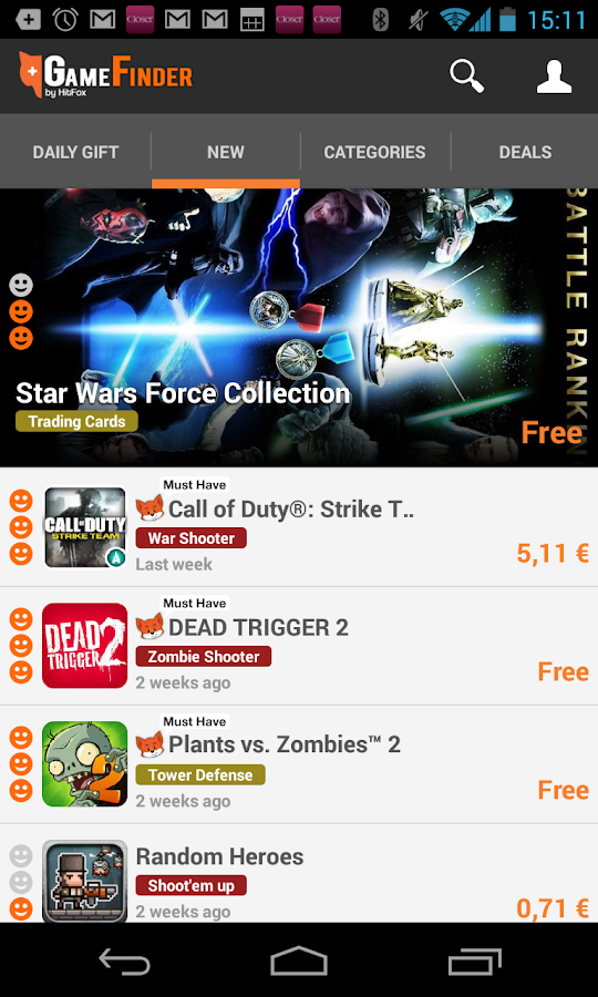 Game Finder - the top games - screenshot
