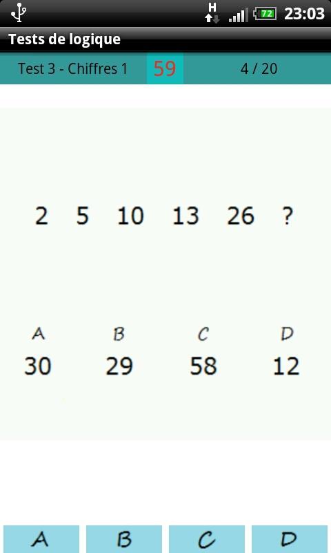 Logical test - screenshot