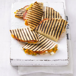Sweet Potato & Chorizo Quesadillas Recipe