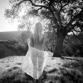 The Beginning  by Ryan Smiley - Black & White Portraits & People ( rksmiley tree hills beautful gorgeous cute sexy sheer chick girl woman hot nude losangeles ca la california socal model models blonde )