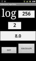 Screenshot of Logarithm Solve