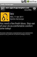 Screenshot of Daily Horoscope