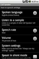 Screenshot of Call Speaker
